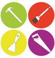 set of icons with building tools vector image
