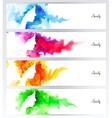 Beautiful abstract woman face silhouettes are on vector image