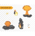 Explode animation effect cartoon explosion vector image