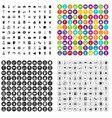 100 catering examination icons set variant vector image vector image