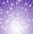 Abstract bokeh on violet background vector image vector image