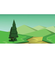 abstract green landscape vector image vector image