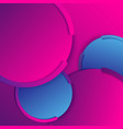abstract modern background geometric circles blue vector image
