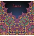arabian style ethnic ornamental frame for text