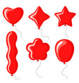 balloons different shapes set vector image vector image
