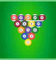 billiard ball icon on green background vector image