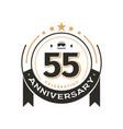 birthday vintage logo template to 55 th