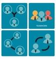 Brainstorm and Teamwork symbol vector image