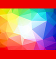 brightly colored triangular background with white vector image