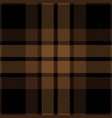 brown and black tartan plaid seamless pattern vector image vector image
