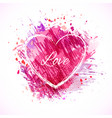 brush-pink-frame-heart vector image vector image