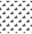 burger lunchbox pattern seamless vector image vector image