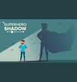 businessman superhero shadow successful vector image