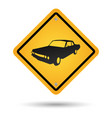 car road sign vector image