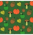 Cartoon Autumn Colorful Seamless Pattern vector image vector image