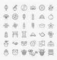 china line icons set vector image