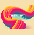 colorful flow vector image vector image