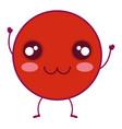 comic kawaii emoticon character vector image
