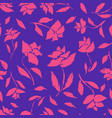 contrast blue pattern with pink roses silhouettes vector image vector image