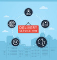 delivery and shipping vector image vector image