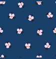 ditsy flower seamless pattern delicate vector image