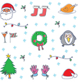 Doodle of christmas set object vector image vector image
