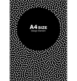 Dots Circle Frame on Black Background A4 size vector image vector image