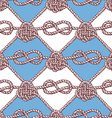 Engraved pattern with ropes vector image vector image