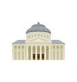 facade of romanian athenaeum famous landmark of vector image vector image