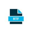 file rtf icon colored symbol premium quality vector image