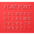 Flat font with shadow effect vector image vector image