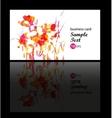floral decorative multicolor card vector image