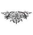 floral have a two horns vintage engraving vector image vector image