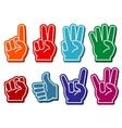 Foam fingers set vector image vector image