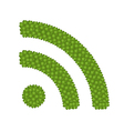 Four Leaf Clove of RSS Feed Sign vector image