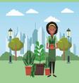 garden and gardeners vector image vector image