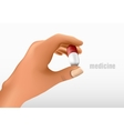 hand holding a tablet vector image