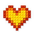 heart made plastic blocks vector image
