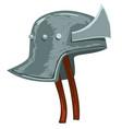 helmet soldier protective medieval headwear vector image vector image