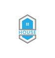 hexagonal house logo design vector image vector image