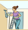 home cleaning woman and spray of water vector image