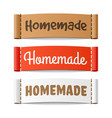 homemade labels vector image