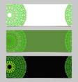 horizontal geometrical colorful gravel mandala vector image vector image