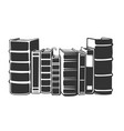 horizontal stack books in monochrome style vector image