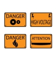 Icons danger vector image