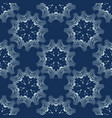 indigo blue floral seamless pattern hand vector image