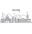 italy turin architecture line skyline vector image vector image