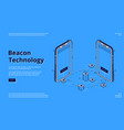 landing page beacon technology with smartphone vector image