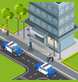 law justice isometric composition vector image