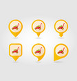 lawn mowers flat pin map icon garden vector image vector image